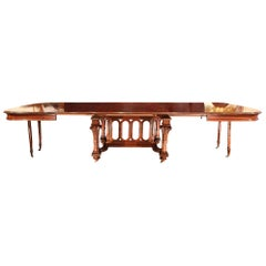 French 19th century Louis XVI st. dining table with the original four extensions