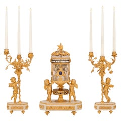 French 19th Century Louis XVI St. Garniture Set Retailed by Tiffany & Co