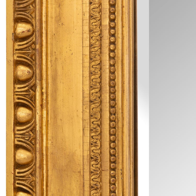 French 19th Century Louis XVI St. Giltwood Mirror For Sale 3