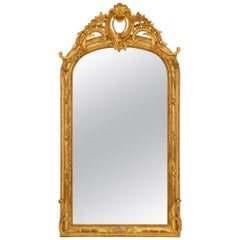 French 19th Century Louis XVI Style Giltwood Mirror