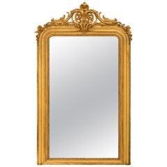 French 19th Century Louis XVI Style Giltwood Mirror
