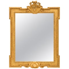 French 19th Century Louis XVI St. Giltwood Mirror
