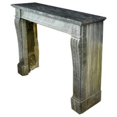 French 19th Century Louis XVI St. Gris St. Anne Marble Fireplace Mantel