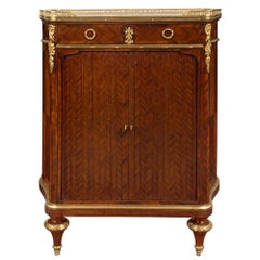 French 19th Century Louis XVI Style Kingwood and Ormolu and Marble Cabinet