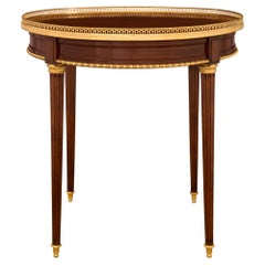 French 19th Century Louis XVI Style Mahogany and Ormolu Circular Side Table