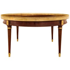 French Louis XVI Style Mahogany and Ormolu Cocktail or Coffee Table