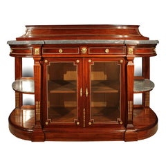 French 19th Century Louis XVI St. Mahogany Buffet