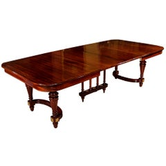 French 19th Century Louis XVI Style Mahogany Dining Table with Two Extensions