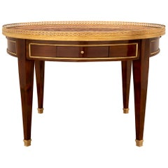 French 19th Century Louis XVI Style Mahogany, Ormolu and Marble Coffee Table