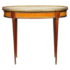 French 19th Century Louis XVI St. Mahogany Oval Side Table