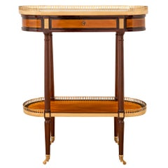 French 19th Century Louis XVI St. Mahogany, Satinwood and Ormolu Side Table