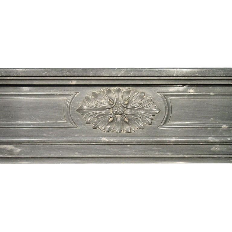 French 19th Century Louis XVI Style Mantle In Excellent Condition For Sale In West Palm Beach, FL