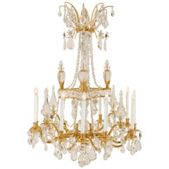 French 19th Century Louis XVI St. Marie Antoinette Baccarat Crystal Chandelier