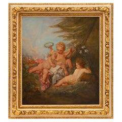 French 19th Century Louis XVI St. Oil on Canvas Painting