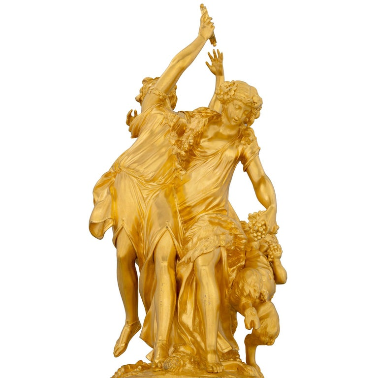 French 19th Century Louis XVI Style Onyx and Ormolu Clock For Sale 1