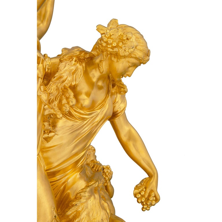 French 19th Century Louis XVI Style Onyx and Ormolu Clock For Sale 3