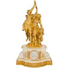 French 19th Century Louis XVI Style Onyx and Ormolu Clock