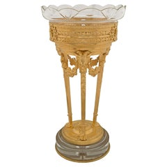 French 19th Century Louis XVI St. Ormolu and Baccarat Crystal Présentoire