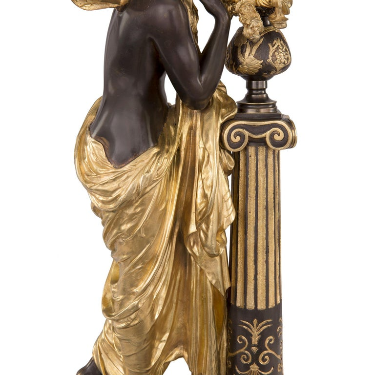 French 19th Century Louis XVI Style Ormolu and Bronze Statue For Sale 5