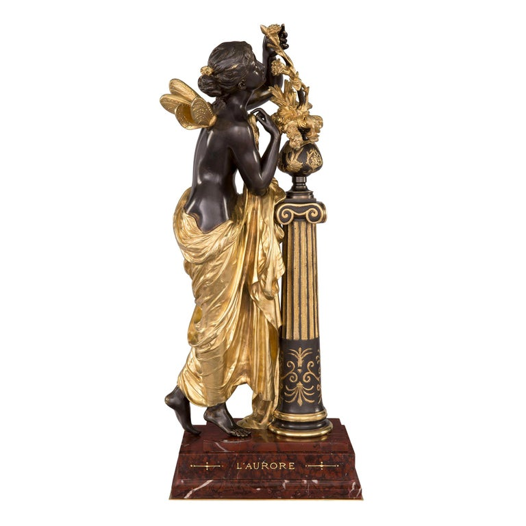French 19th Century Louis XVI St. Ormolu and Bronze Statue For Sale