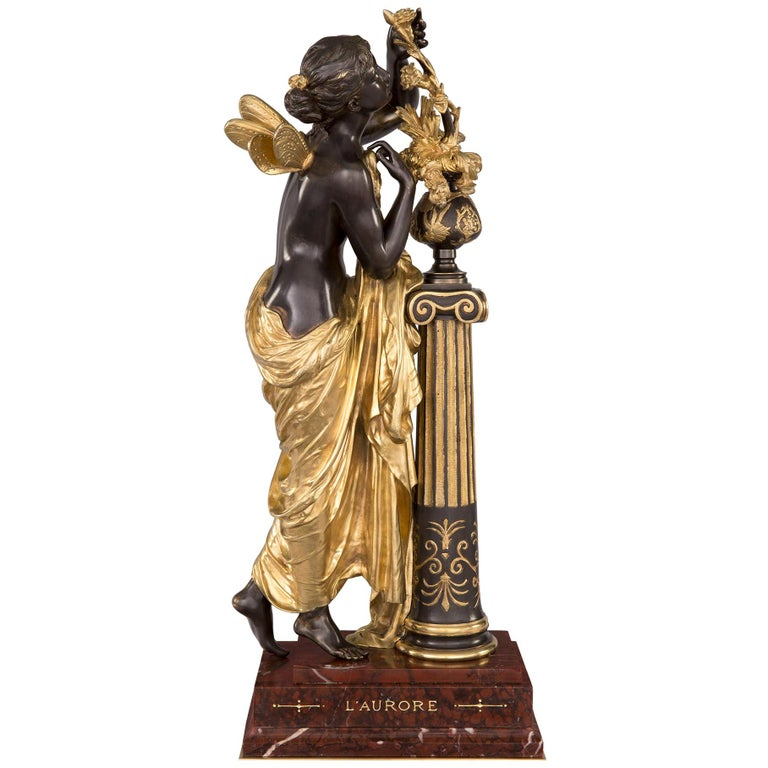 French 19th Century Louis XVI Style Ormolu and Bronze Statue For Sale