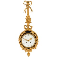 French 19th Century Louis XVI St. Ormolu And Enamel Cartel Clock