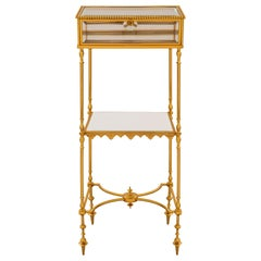 French 19th Century Louis XVI Style Ormolu and Glass Side/Display Table