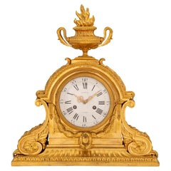 French 19th Century Louis XVI St. Ormolu And Marble Signed Clock
