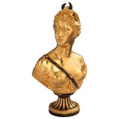 French 19th Century Louis XVI Style Ormolu Bust of Diana