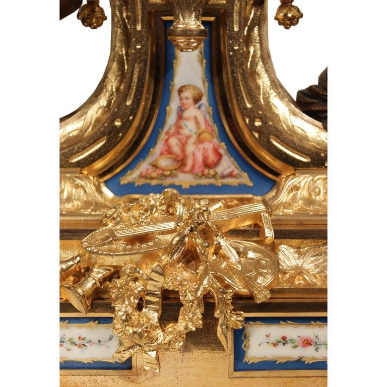 French 19th Century Louis XVI Style Ormolu Clock For Sale 2