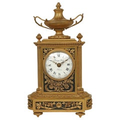 French 19th Century Louis XVI Style Ormolu Clock Signed 'Raingo Freres, Paris'