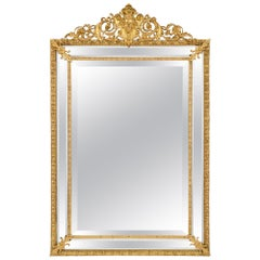 French 19th Century Louis XVI St. Ormolu Double Framed Mirror