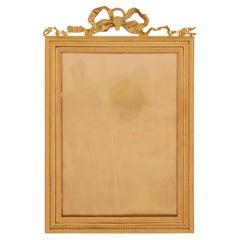 French 19th Century Louis XVI St. Ormolu Frame