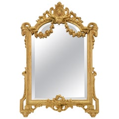 French 19th Century Louis XVI Style Ormolu Freestanding Vanity Mirror