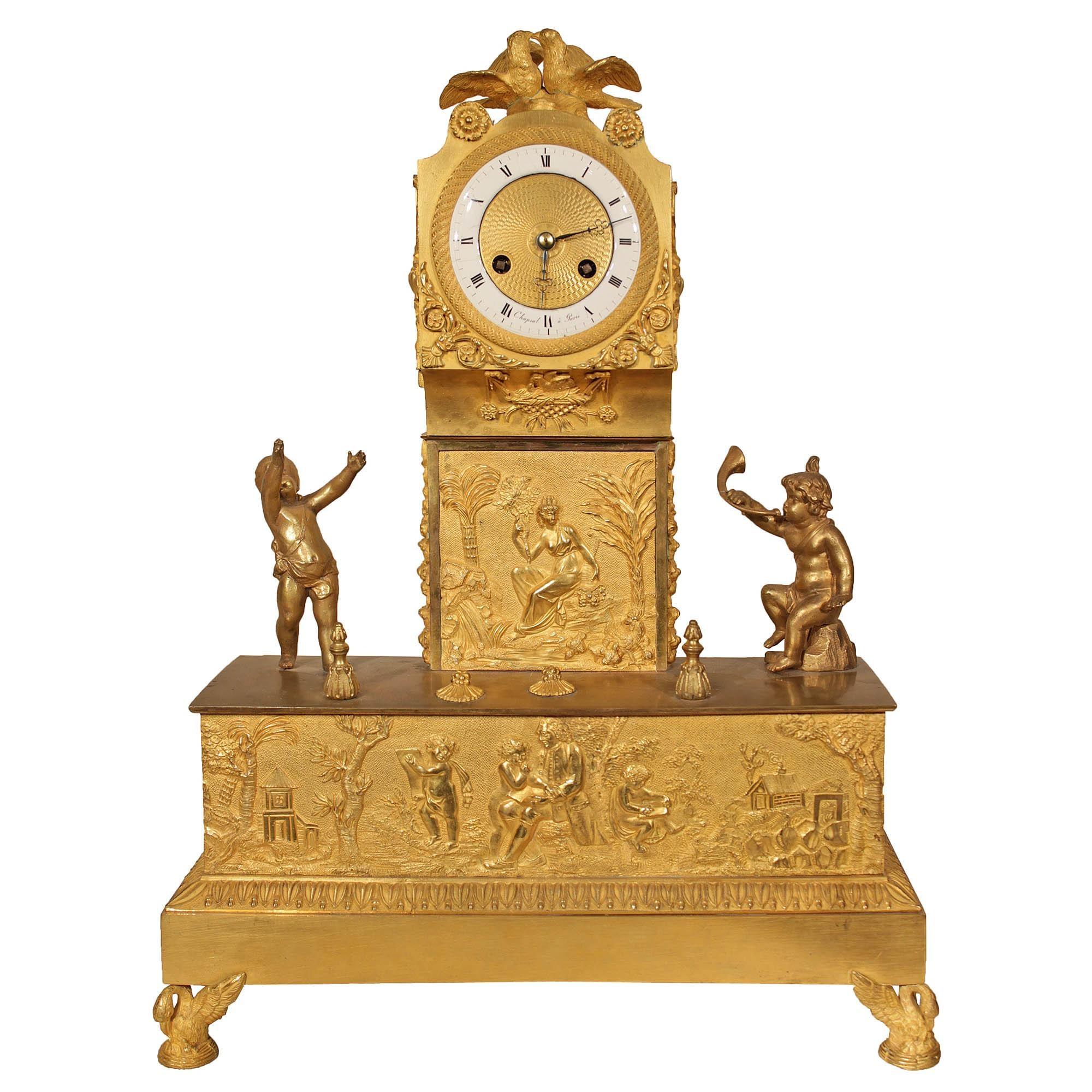 French 19th Century Louis XVI St. Ormolu Mantel Clock