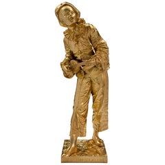 French 19th Century Louis XVI Style Ormolu Statue of Pierrot