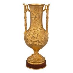 French 19th Century Louis XVI St. Ormolu Urn, Signed 'F. Barbedienne'