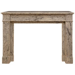 French 19th Century Louis XVI St. Paloma Marble Fireplace Mantel