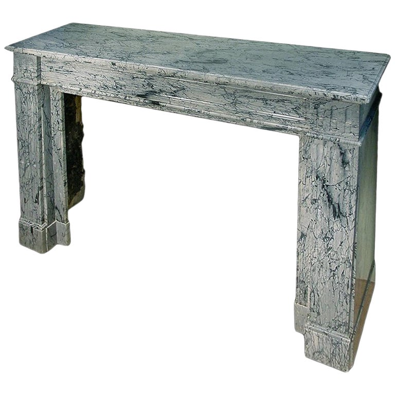 French 19th Century Louis XVI Style 'Paloma' Marble Mantel For Sale