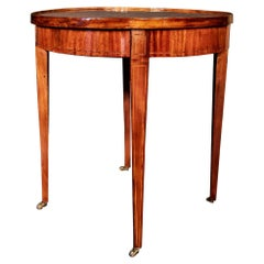 French 19th Century Louis XVI St. Parquetry Flip Top Table