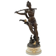 French 19th Century Louis XVI St. Patinated Bronze, Ormolu and Onyx Statue