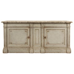 French 19th century Louis XVI st. patinated two door cabinet/buffet