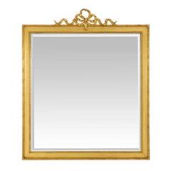 French 19th Century Louis XVI St. Rectangular Giltwood Mirror