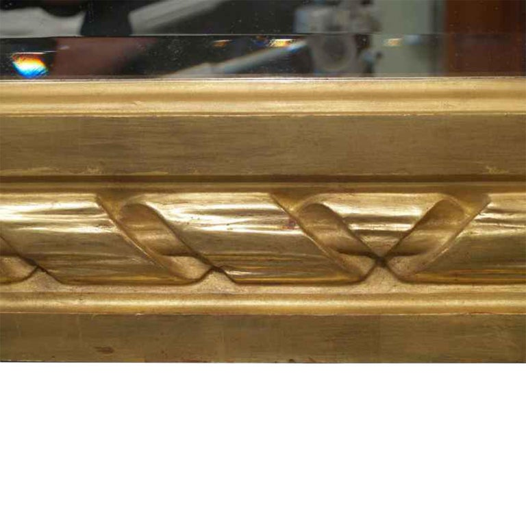 French 19th Century Louis XVI St. Rectangular Shaped Giltwood Mirror For Sale 1