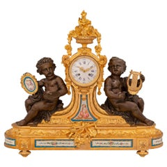 French 19th Century Louis XVI St. Sèvres Porcelain and Ormolu Clock