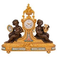 French 19th Century Louis XVI St. Sèvres Porcelain and Ormolu Clock