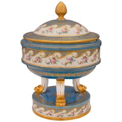 French 19th Century Louis XVI Style Sèvres Porcelain Lidded Tureen
