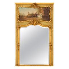 French 19th Century Louis XVI St. Trumeau Mirror