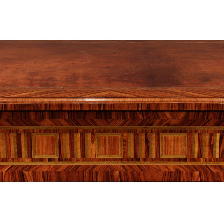 French 19th Century Louis XVI St. Tulipwood Center Table For Sale 2