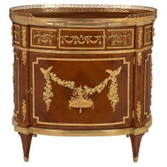 French 19th Century Louis XVI Style Tulipwood Side Table/Cabinet